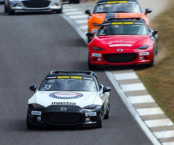 Robert Noaker Racing in the Lead