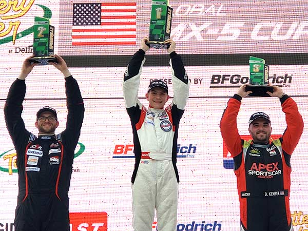 Robert Noaker's Podium Road America Win